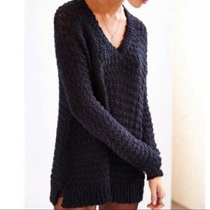 Urban Outfitters Dark Navy/Black Knit Sweater